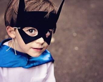 BAT MASK - Superhero mask - Super hero party favor - Halloween Mask - Kid Halloween Superhero Costume