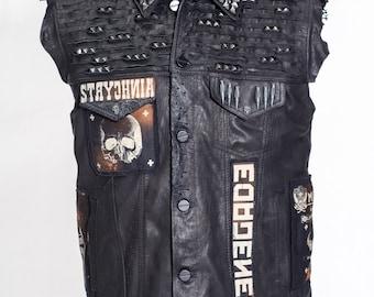 KORRUPT LABEL leather mens vest