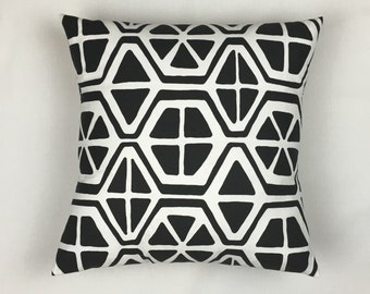 Throw Cushion - Black Accent Pillow Cover - Black Throw Pillow Cover - Decorative Pillow - Pillow Shams - Pillow Cover 16 x 16