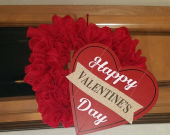 Double Hearts Valentines wreath