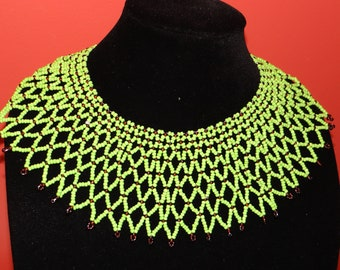 African beads statement necklace