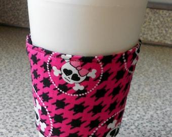 Coffee Sleeve,   Mug wrap,  Mug cozy,  Coffee Cozy,  Coffee cuddler, reversible coffee sleeve