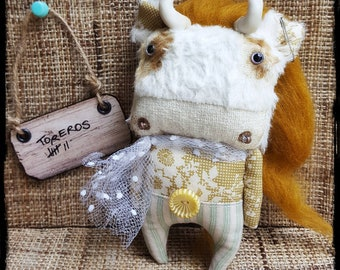 Cute little bull  :-) handmade by krokuss