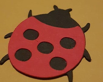 10 Little ladybird ideal for scrapbooking , childminding, kids  and card making