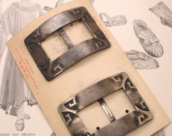 Shoe Buckles Slipper Buckles, Antique Art Deco