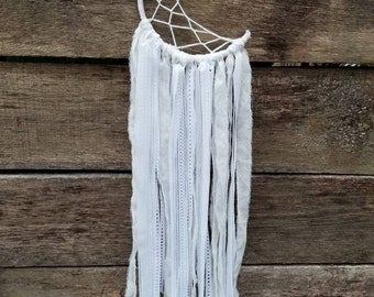 MOON Dream catcher white Lace and fabric