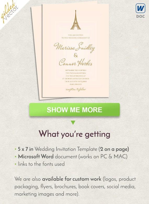 Hochzeit Einladung Vorlage druckbare Karte editierbare Word