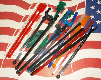 22 Vintage Across The USA Swizzle Stick Stirrers