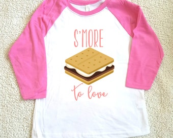 S'more to love girl's top, Youth T-shirt sizes XS, S, M, L, XL funny graphic kids shirt gift