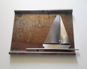 Stainless Steel sailing ship