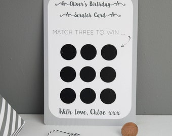 Birthday Scratchcard // Secret Reveal // Scratch Card // Scratch off // Reveal Scratch Card // Personalised Scratch Card // Fun Scratch Card