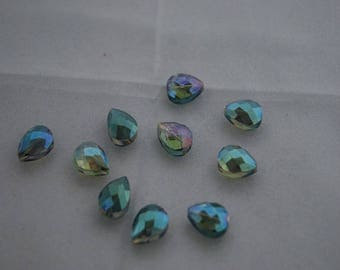 Crystal Aurora Borealis multicolored 13 * 16mm beads