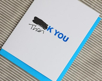 Redacted Thank You, Letterpress card (Single)