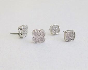 studs, cubic zircon, wedding, party , bridesmaid, earrings,