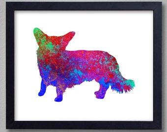Cardigan Welsh Corgi Art Print - Proceeds to Shelters - Dog Wall Art - Abstract Digital Animal Painting