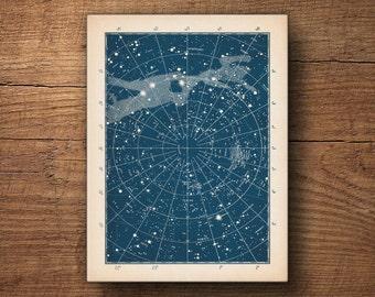 Star Chart Canvas Print, Star Chart, Constellation Chart, Celestial Map, Star Map Poster, Large Constellation Art, Astronomy Art, Galaxy Art