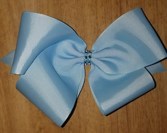 Large Light Blue Hair Bows