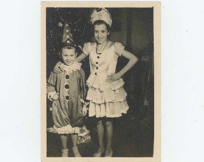 Vintage Snapshot Photo: Big Sister, Little Brother, Soviet Union, New Year, 1958[86689]