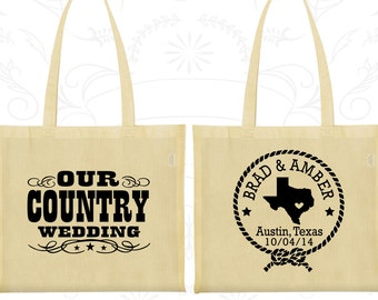 Our Country Wedding, Imprinted Bags, Texas Wedding Bags, Country Rustic Wedding, Rustic Wedding Bags, Welcome Wedding Bags (24)