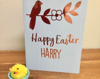 6 personalised easter gift bags party favour bags easter egg
