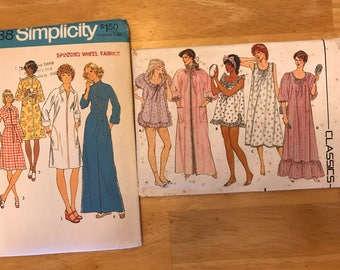 Ladies Robe and Gown Sewing Patterns, Lot of Two (2)
