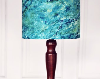 Lamp shades, blue marbled lampshade, blue home decor, green home decor, new home gift, bedside lamp, modern ceiling light, marbled home