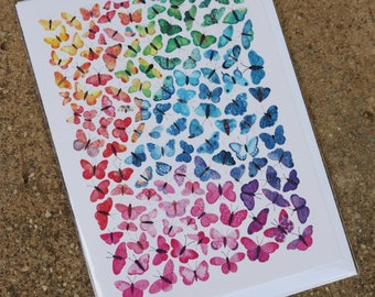 Ombre Butterflies Card