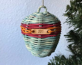 Fire and Ice handmade ornament Authentic Native American Made ornament,