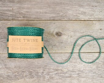 Forest Green Jute Twine - 100 yards