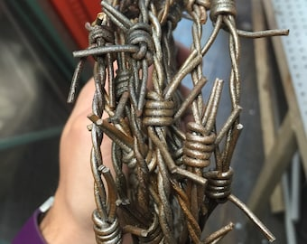 Wicked Wire Special Effects Barbed Wire 12 Foot Halloween Rust Version