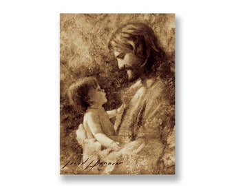 """Jesus Christ Art Print """"For Such is the Kingdom"""" by Artist Jared Barnes"""