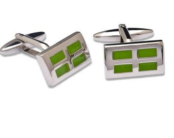 Rectangular Shape Cufflinks and Four Divisions