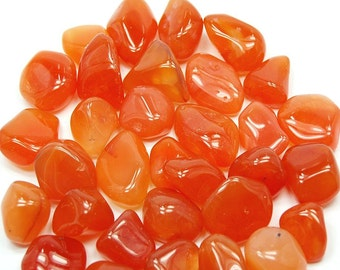 High quality tumbled Carnelian.  All pieces hand picked!