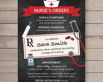 Nurse Graduation Party Invite - 5x7
