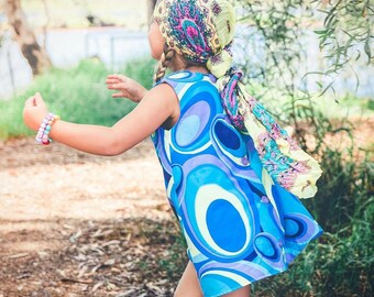 Girl's Summer Dress ,Handmade Dress, A-Line Dress, Dress, Upcycled
