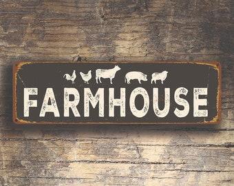 FARMHOUSE SIGN, Farmhouse Signs, Vintage style Farmhouse Sign,  FARMHOUSE, Outdoor Farmhouse Market Sign, Farmhouse Decor, Gift for Farmer