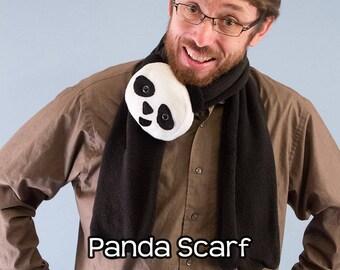 Fleece Panda Scarf