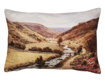 Linen cushion cover, decorative pillows, designer cushion, scatter cushion, home decor, sofa cushion cover, living room décor, Valley design