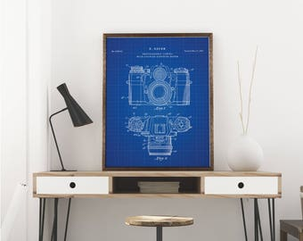 Camera Printables, Camera Patent, Camera Print, Camera Art, Camera Wall Art - Patent Art - Wall Art - Blueprint