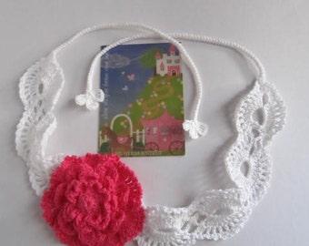 Red Flower Headband, Summer Lace Headband, Girls Crochet Flower Headband, Adult Flower Head band,Teen Head wrap Summer Head bands