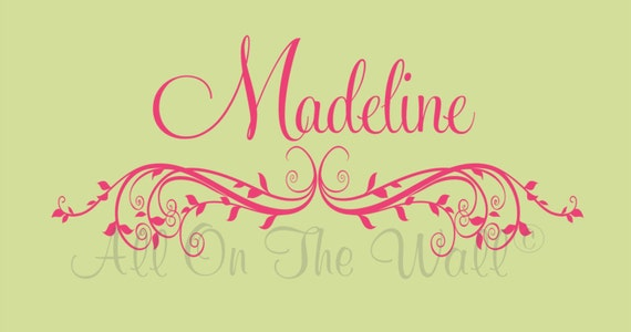 Wall Decals Baby Girl Name Wall Decal Nursery Wall Stickers