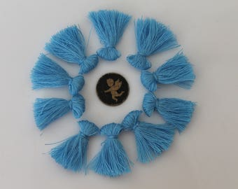 10 turquoise blue tassel fringe - 25 mm - jewelry charm