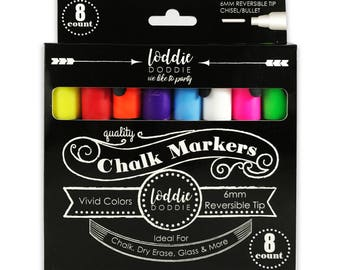 8 Count VIVID Colors Chalk Markers