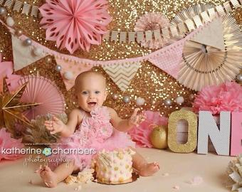 Cake Smash Bib, 1st Birthday Girl Bib, 1st Birthday Cake Smash, 1st Birthday Necklace, 1st Birthday Photo Outfit, Cake Smash Photo Outfit