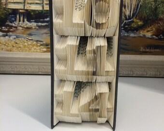 Vertical Custom Date Folded Book Art