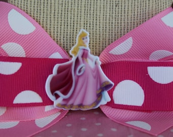 Pink Cinderella Winter Hair Bow