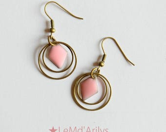 Small graphic Roses Earrings