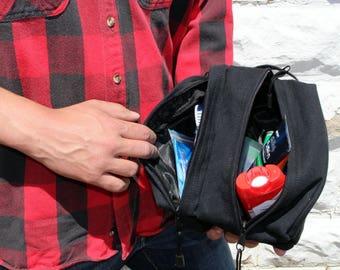 Men's Gift Idea - dopp kit - Toiletry Bag - Groomsmen Bag - Groomsmen gift idea