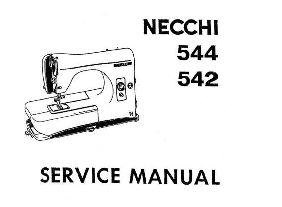 NECCHI LYDIA 542 544 Instruction Book and Service / Repair