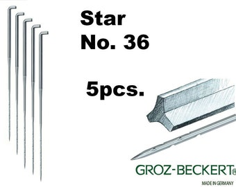 Star felting needles, Gauge 36. Price for 5pcs. Made in Germany.
